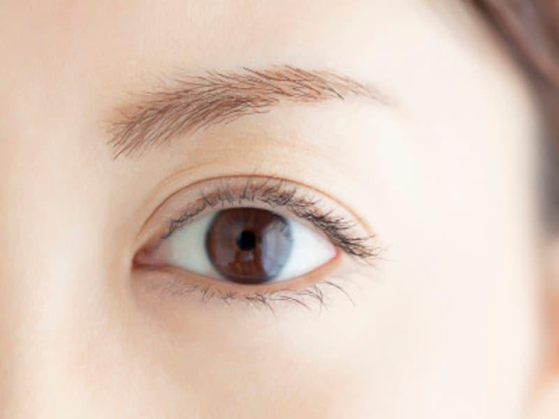 瞳の黒目の部分は真っ黒ではなく、わずかに色みが感じられます