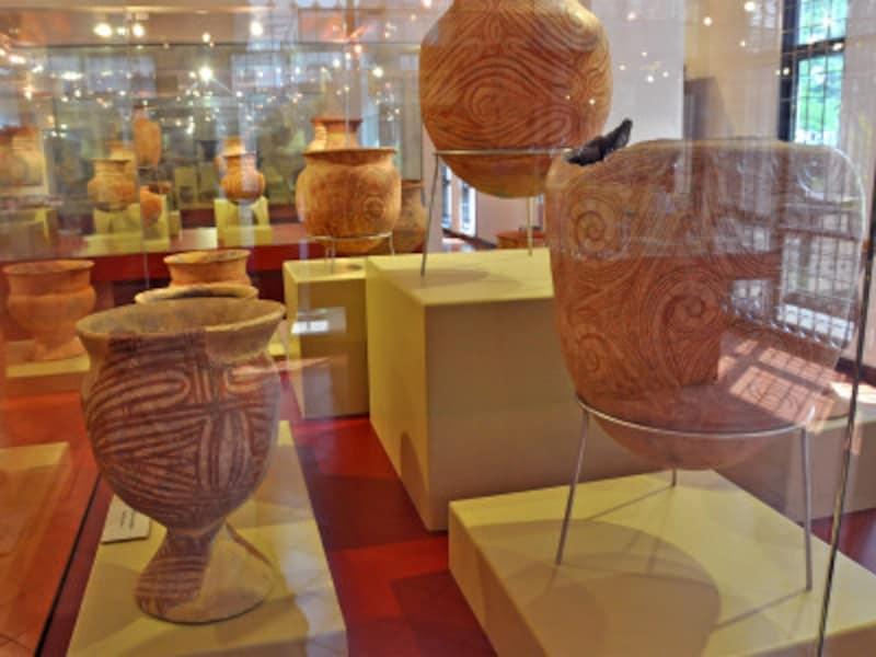 バンチェン国立博物館に展示されたバンチェン土器
