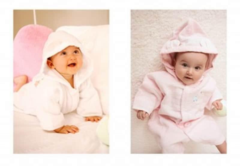 出産祝い名入れグッズランキング第5位、ふわサラ袖付き湯上がりバスローブ(BabyGoose)