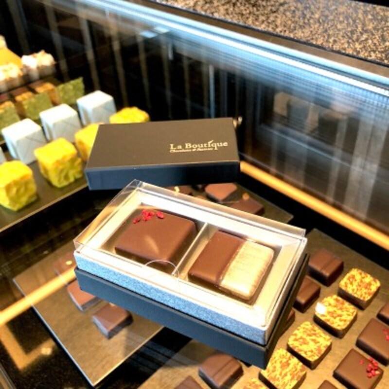 チョコレート2個入りボックスは1000円(税別)