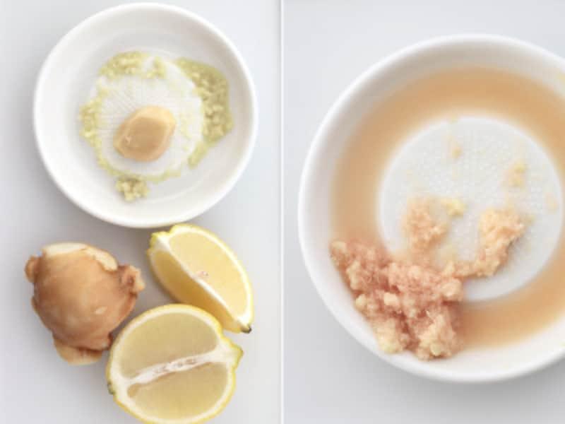 檸檬×生姜×オリーブオイルのさっぱり冷ややっこ