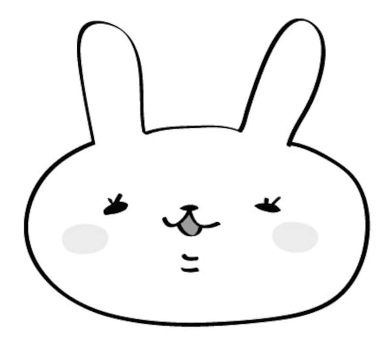 うさぎ 動物 イラスト 白黒 かわいい