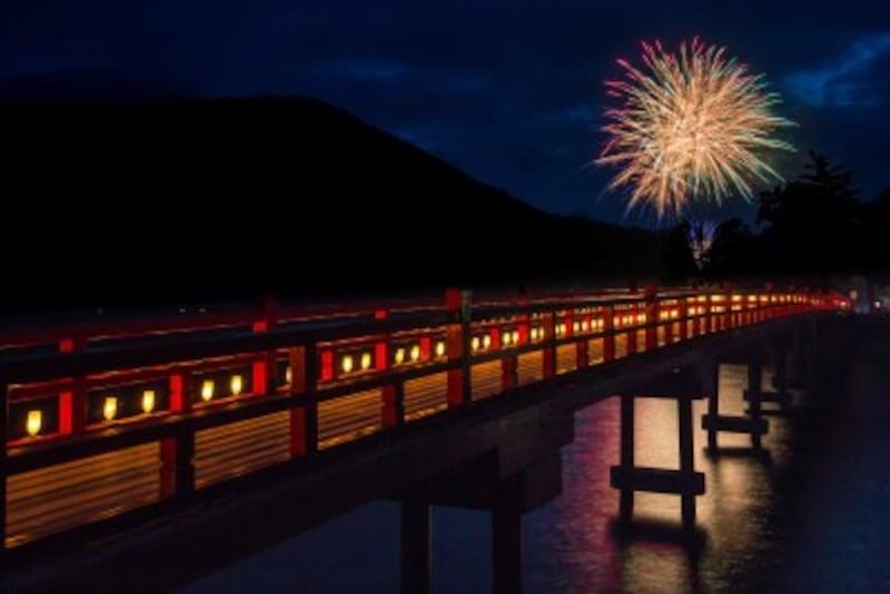 赤城神社周辺から見た風情ある花火