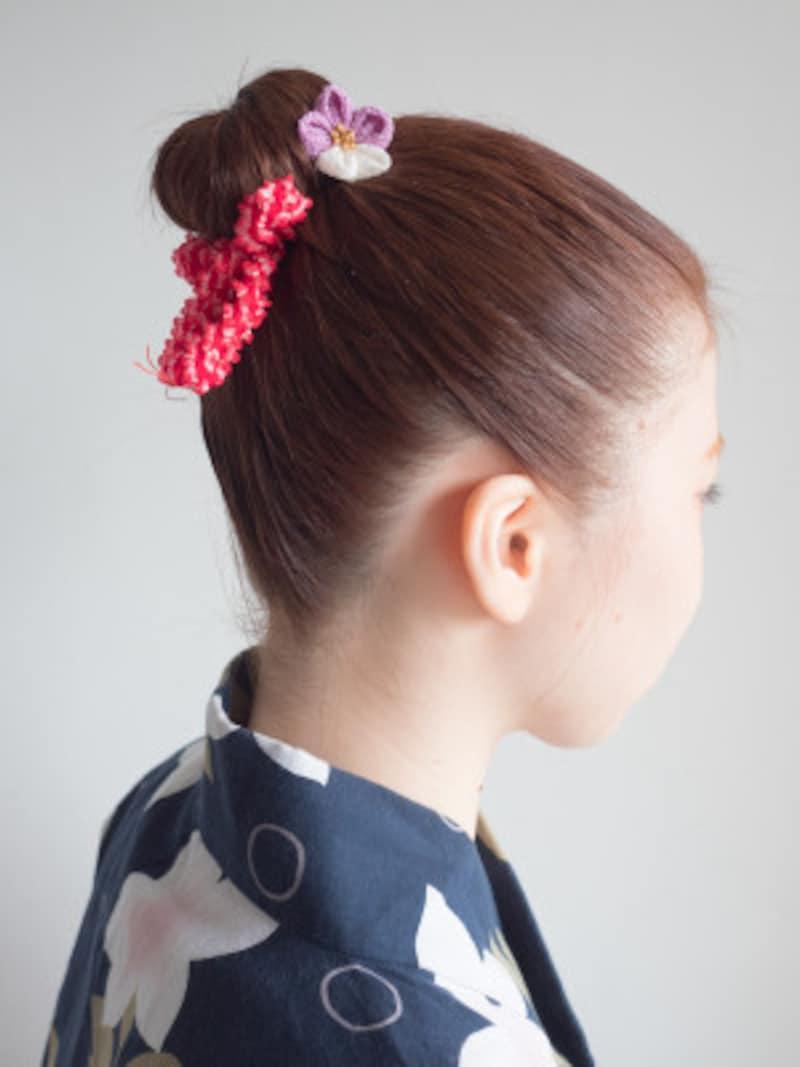 子供の髪型に!夏祭りや発表会に似合う簡単アップヘア