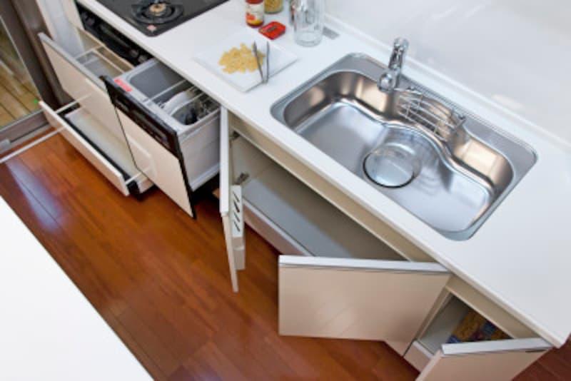 シンク下収納・観音開きを見直して、より使いやすいキッチンに