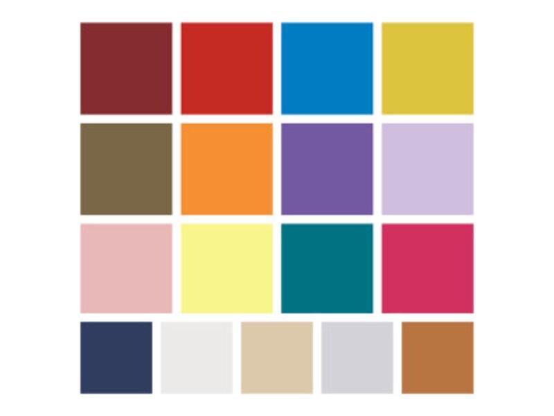 米国パントン社が選んだ、2018年秋冬トレンドカラー(流行色)はこの17色