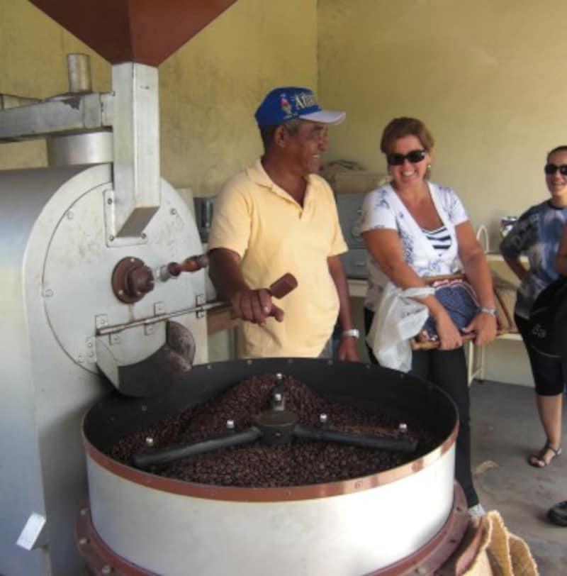 SantoAntôniodaBelaVista農園(サンパウロ州) 焙煎の様子