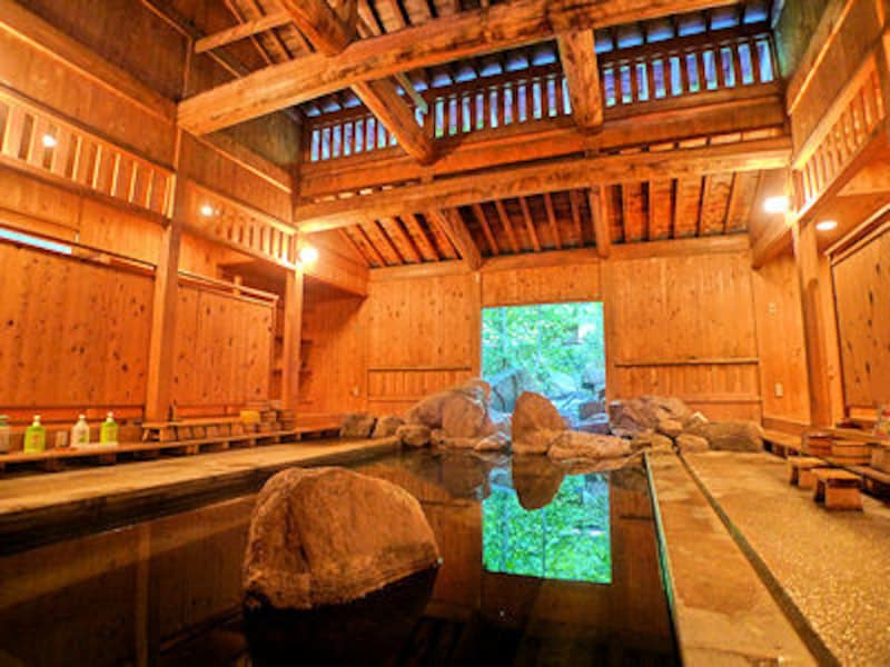 中房温泉の内湯