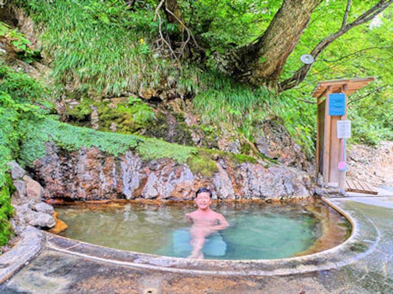 夏油温泉の露天風呂