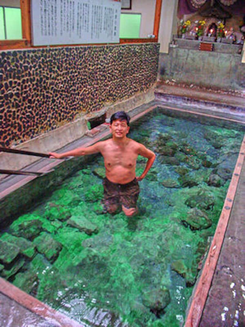 寒の地獄温泉の鉱泉浴場