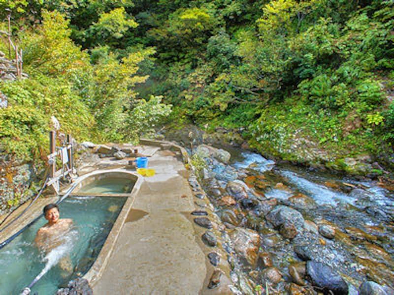 駒の湯温泉の露天風呂