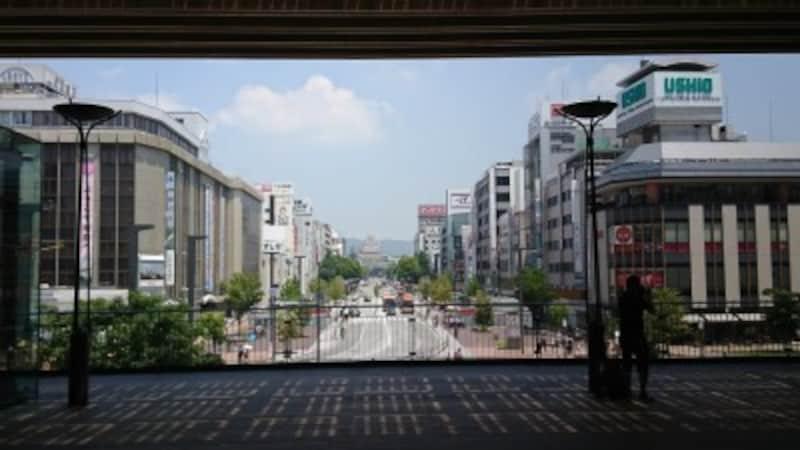 姫路駅キャッスルビューから望む姫路城