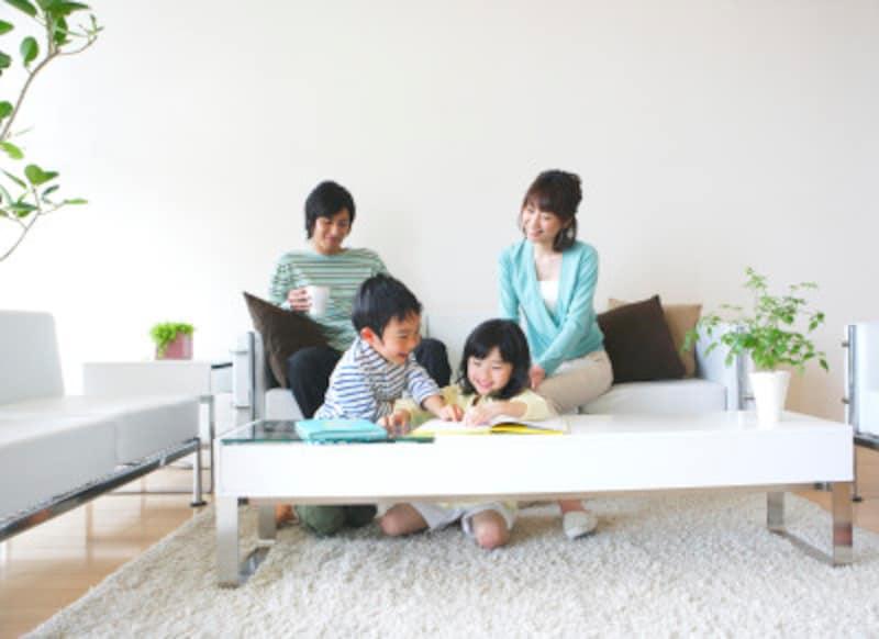部屋の中が整うと家族の笑顔がふえます