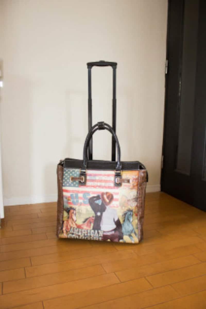 「キャリーケースタイプ」のバッグをチョイス