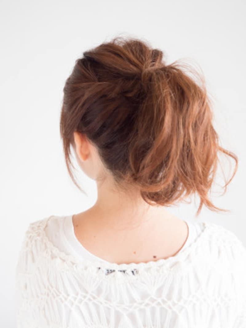 運動会の髪型・ミディアムポニーテール