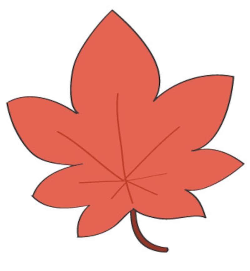 秋 イラスト 紅葉 カラー かわいい