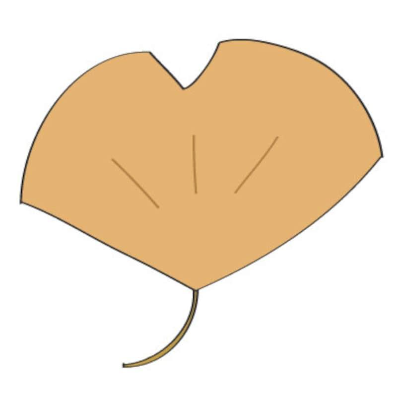 秋 イラスト イチョウ カラー かわいい