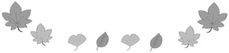 秋 イラスト 紅葉 落ち葉 白黒 フレーム