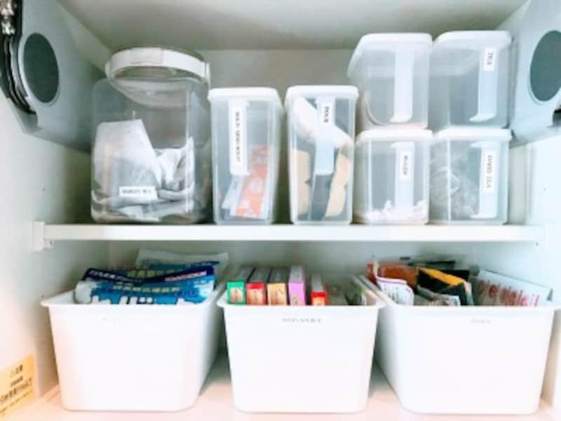 個包装になっている食材を保管しているロックポット