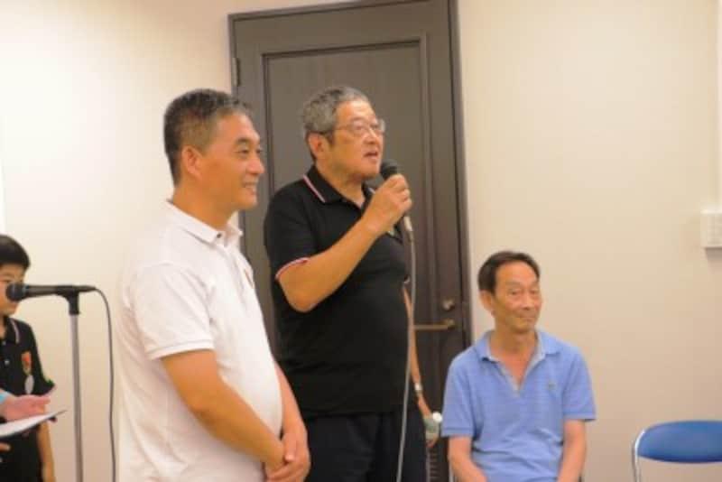 左:許氏、中央:恵下氏、右:李氏(北京の指導者)