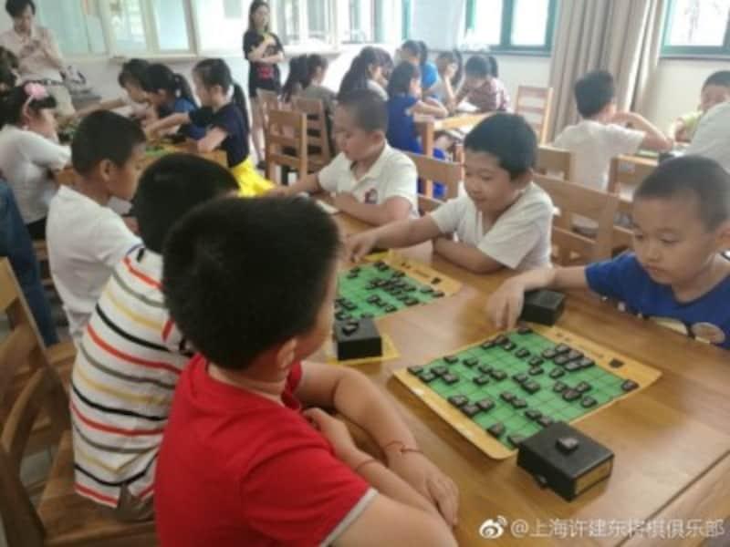 上海の将棋教室(許氏提供)