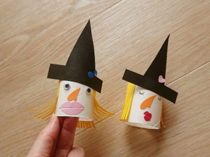 クラフトパンチを使って魔女の帽子をデコレーションする