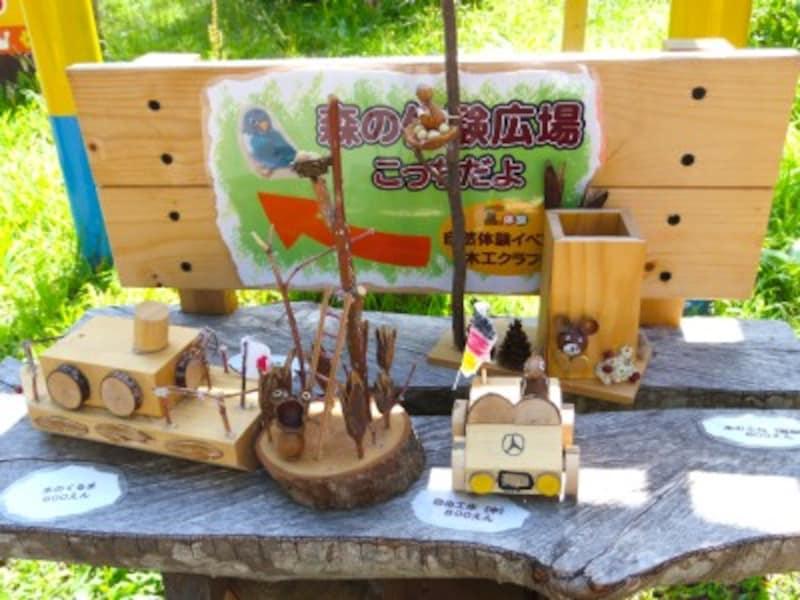 木工クラフト教室で作る作品例