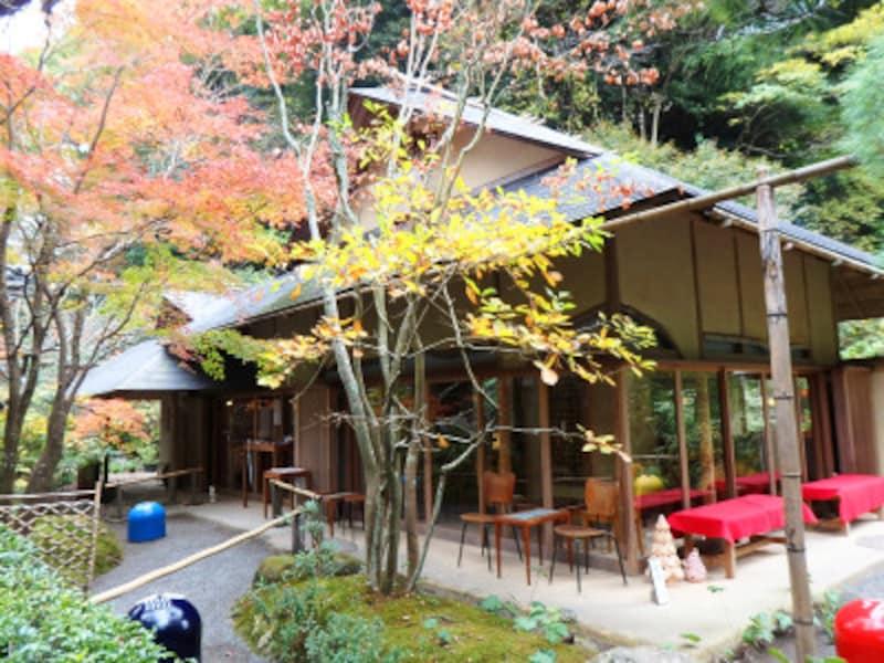 明月院境内のカフェ、月笑軒