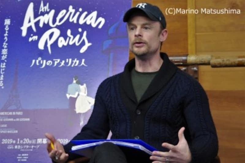 『パリのアメリカ人』稽古場取材会にて。(C)MarinoMatsushima