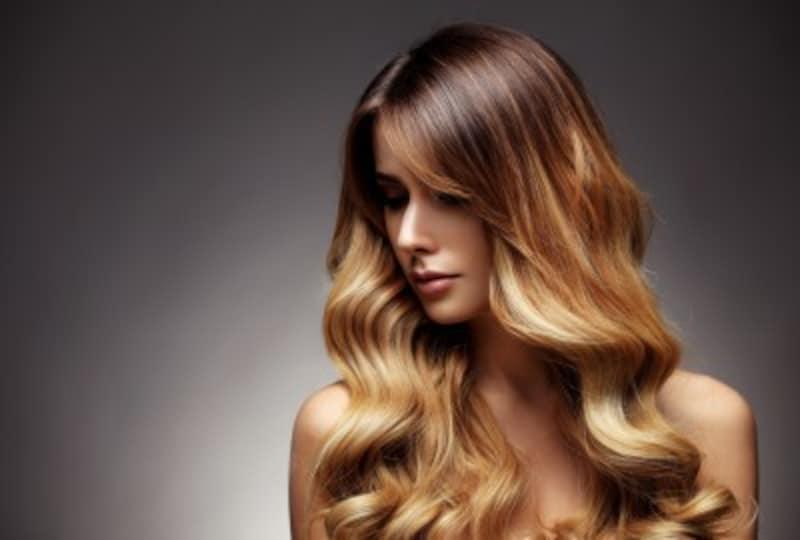 金髪の種類:オンブレ