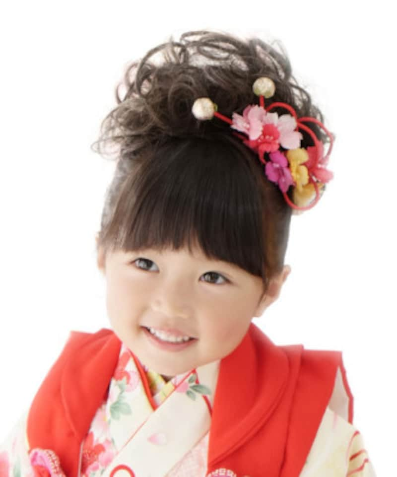 七五三・3歳女の子は幼児らしさがあふれる髪型が人気