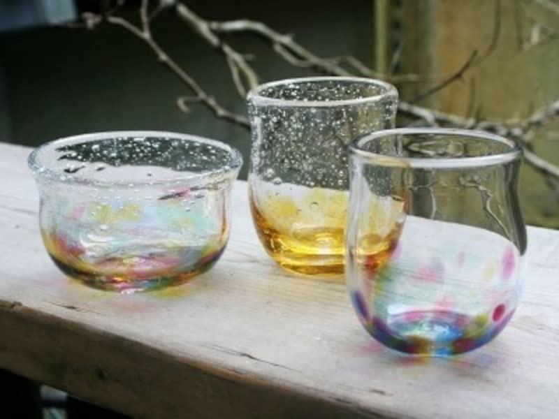 普段使いもできるガラス製の器やグラス