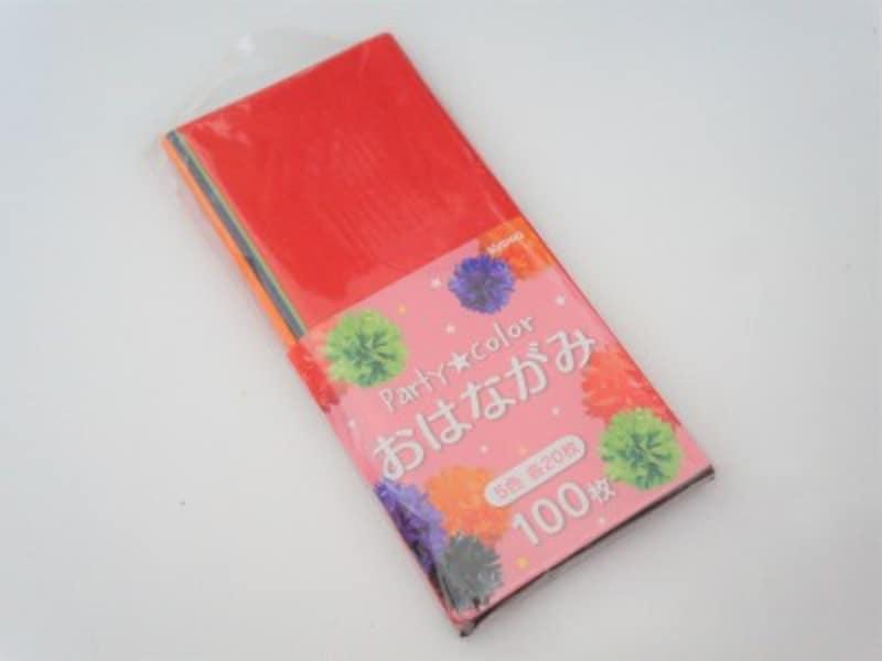 100円ショップのセリアで購入したハロウィンカラーのフラワーペーパー
