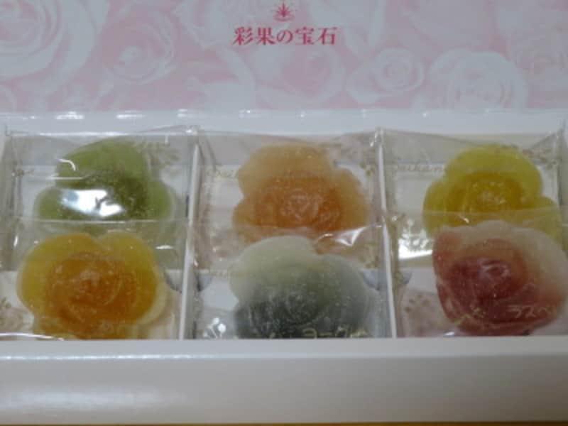 「彩果の宝石」で人気のフラワーゼリー