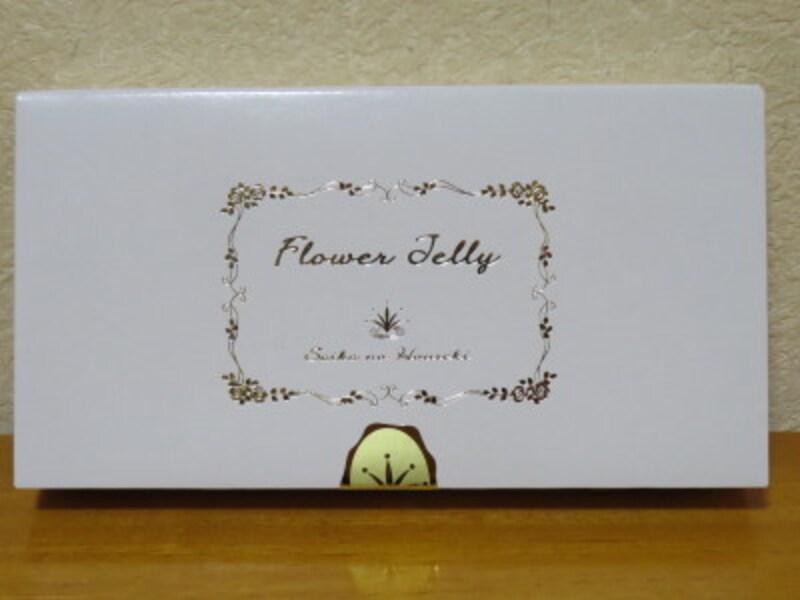 落ち着いた雰囲気にデザインされたフラワーゼリーの化粧箱