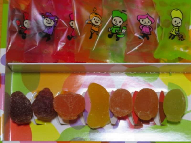 材料の果物がリアルな姿で現れるプレミアゼリー