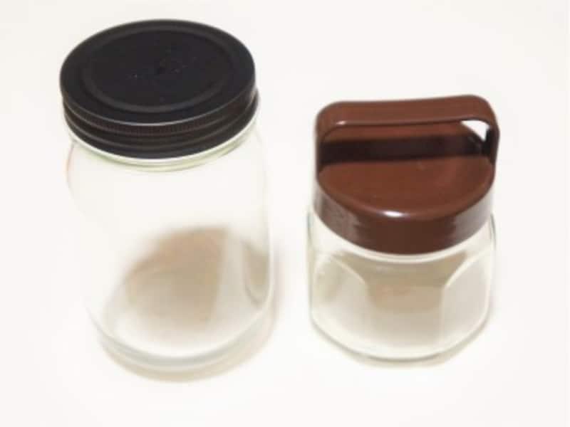 空き瓶の口は5cm以上ある物を選んでください。