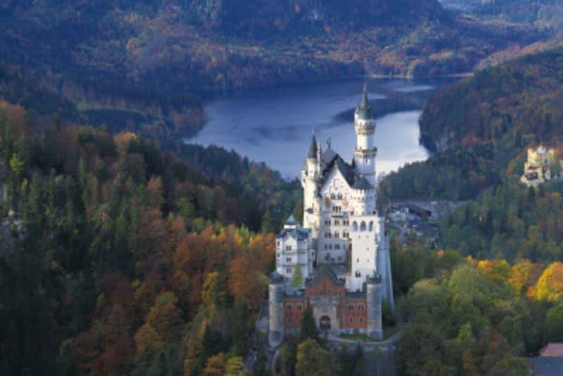 シンデレラ城のモデルになったとも言われる、ノイシュヴァンシュタイン城。