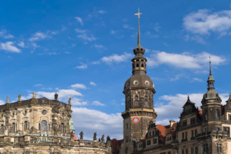 絢爛豪華な財宝が収蔵されている博物館のある、ドレスデン城。