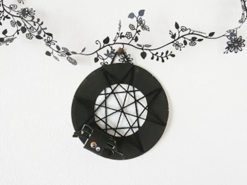 ハロウィン飾りクモの巣