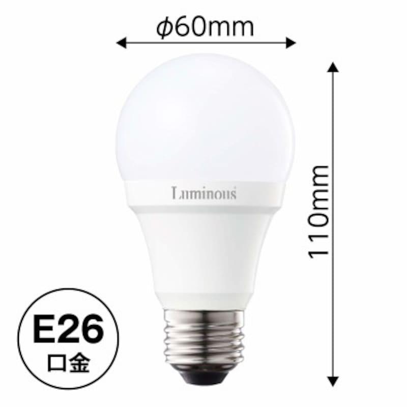 ルミナスLED電球E26口金