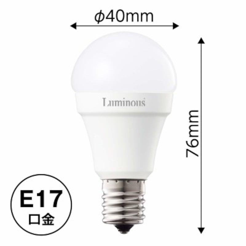 ルミナスLED小型電球E17口金