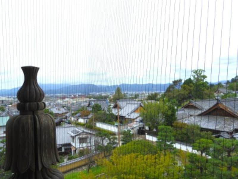 山門の上から見た眺望