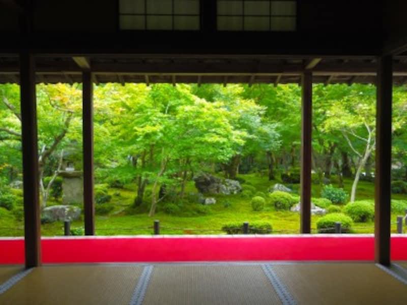 圓光寺の額縁庭園