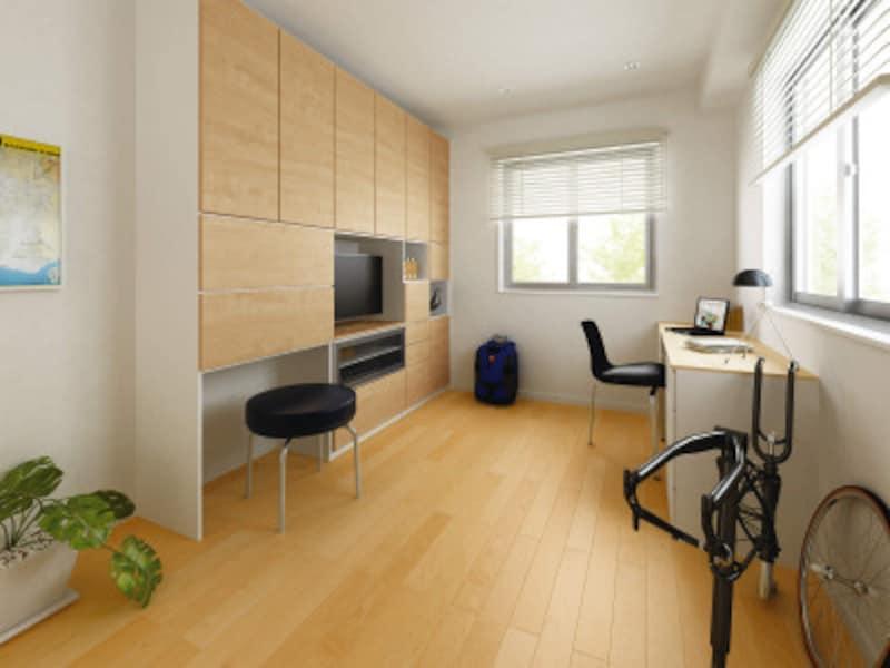 高い防音性能を持つマンション用の床材。滑らかな肌触りの艶消し仕上げが魅力。[マンション用直張防音床材オトユカピュアシルク40(96幅タイプ)] DAIKENhttps://www.daiken.jp/