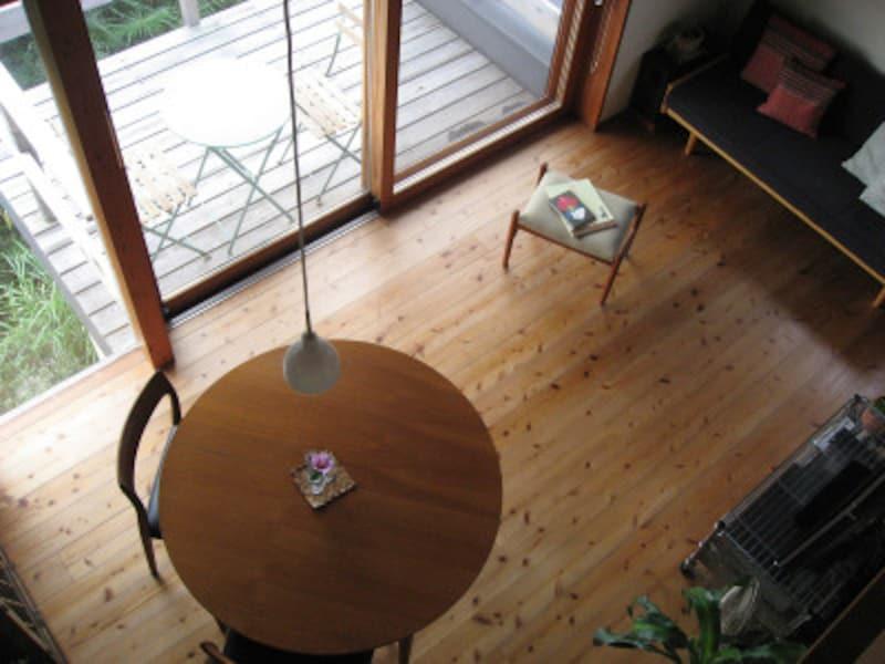 柔らかい杉材のフローリング。経年で色も落ち付きを増す。(写真はイメージ)