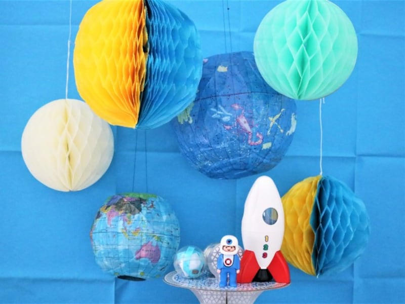 ハニカムボール作り方・飾り方・吊るし方