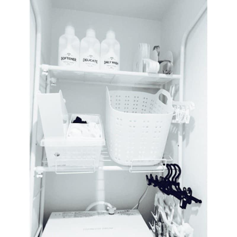 洗濯機ラックを設置すると無駄なスぺースを有効活用できます