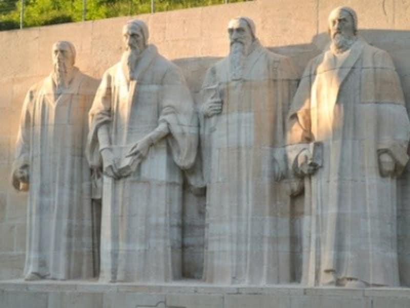 ジュネーブの宗教改革記念碑。