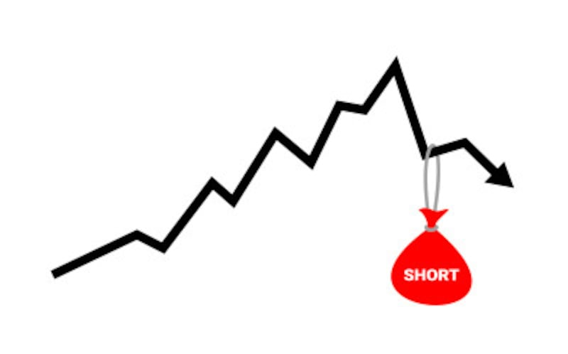 空売りでは株価が下がると利益になり、株価が上がったら損失になります